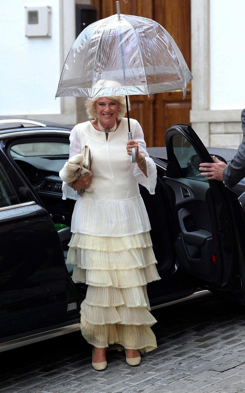 Camilla, the Duchess of Cornwall, was one of a number of high profile guests at the couple's wedding in May 2016 - Credit: EPA/DANIEL PEREZ