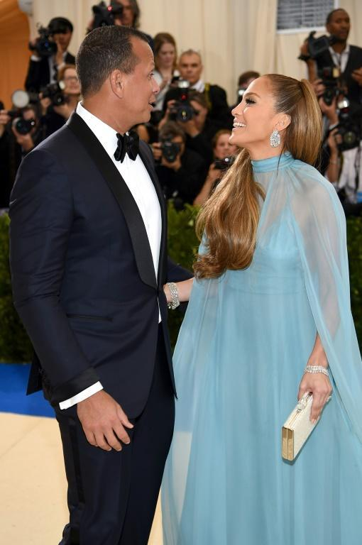 "Alex Rodriguez and Jennifer Lopez attend the ""Rei Kawakubo/Comme des Garcons: Art Of The In-Between"" Costume Institute Gala at Metropolitan Museum of Art in May 2017"