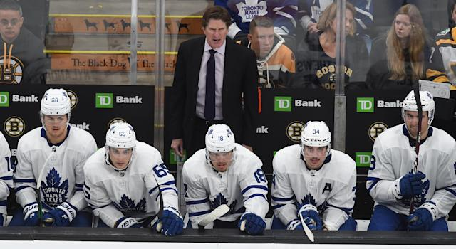 The Toronto Maple Leafs parted ways with head coach Mike Babcock. (Photo by Steve Babineau/NHLI via Getty Images)
