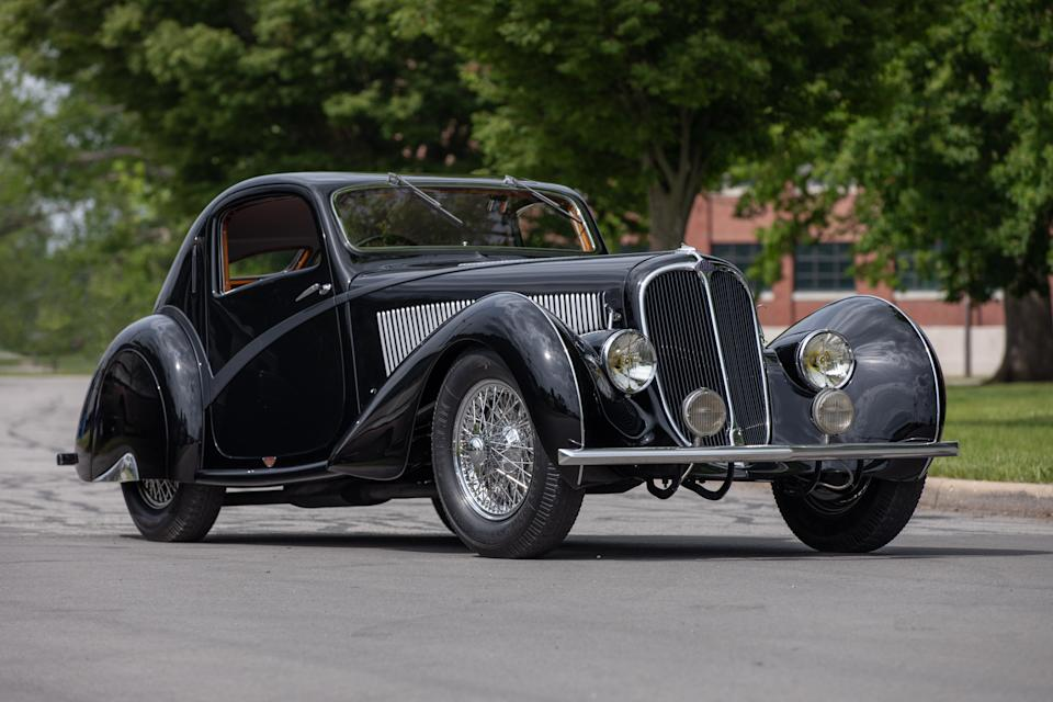 A 1936 Delahaye Type 135 Competition Court Teardrop Coupe could sell for $6 million at Mecum's  Monterey auction.