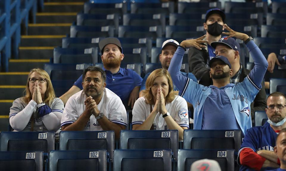 Blue Jays fans and baseball media were in their feelings after the 91-win Blue Jays missed out on the playoffs by a single game. (Getty)