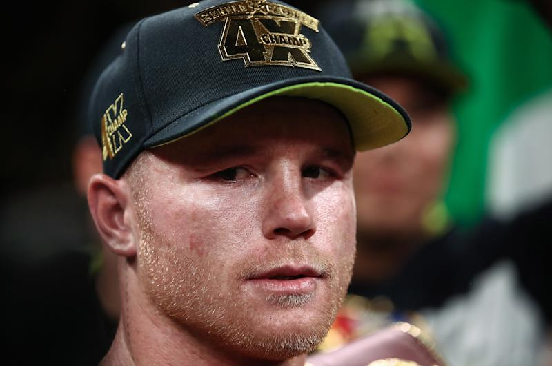 Canelo Alvarez sounds uninterested in accepting Jorge Masvidal's challenge, which he labeled for what it is. (Valery Sharifulin\TASS via Getty Images)