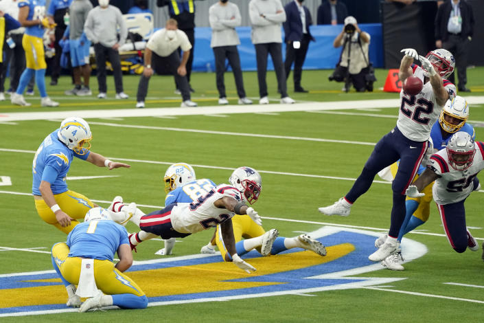 Newton, special teams lead Patriots to 45-0 rout of Chargers