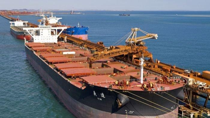 Trade deficit falls on iron ore, coal recovery