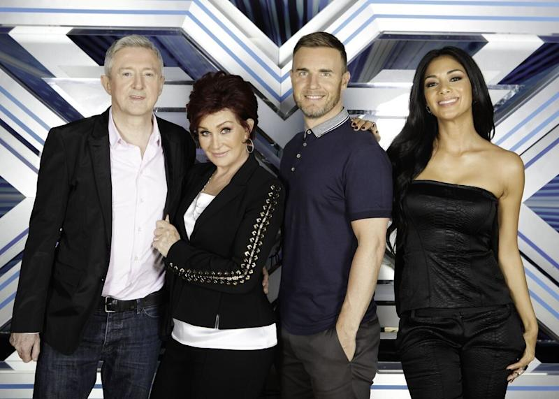 She's BACK! Sharon Osbourne rejoins the panel after five years, replacing Tulisa and joining Louis, Gary and Nicole.