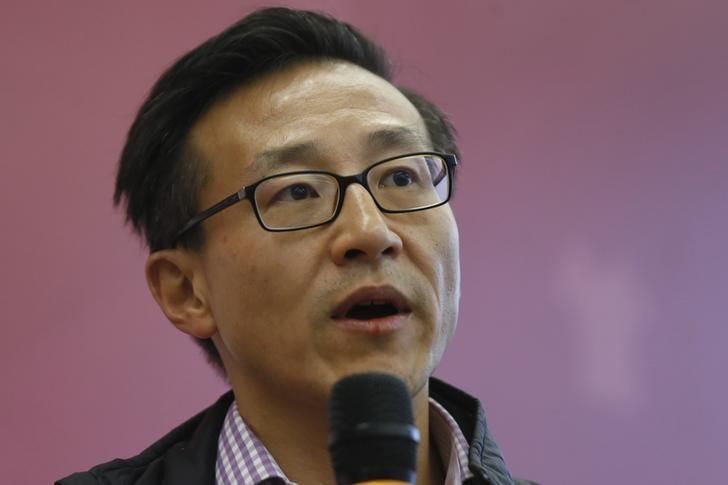 File photo: Joseph Tsai attends a group interview at the company's headquarters in Hangzhou
