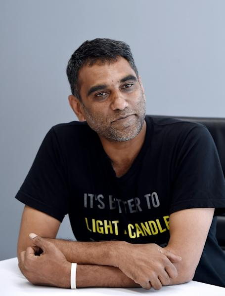Kumi Naidoo, the Amnesty International Secretary General, says there is increasing recognition that climate change is a human rights issue (AFP Photo/Olivier DOULIERY)
