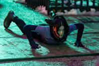 <p>Hailee Steinfeld was hard at work filming a scene for Marvel's <em>Hawkeye</em> in New York City.</p>