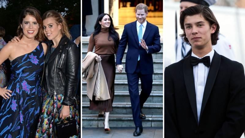 Prince Harry and Meghan Markle plan to join Beatrice and Eugenie and Prince Nikolai of Denmark in becoming working royals. Images: Getty