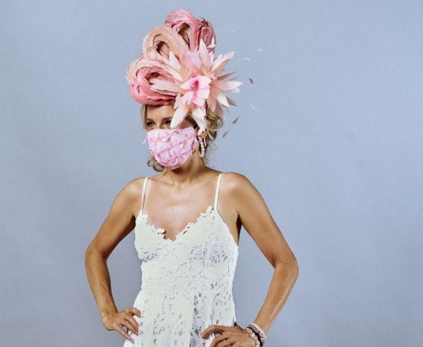 PHOTO: Fashion labels such as Kenzie Kapp have created matching face mask for the 2020 Kentucky Derby. (Jessa Mayhew)