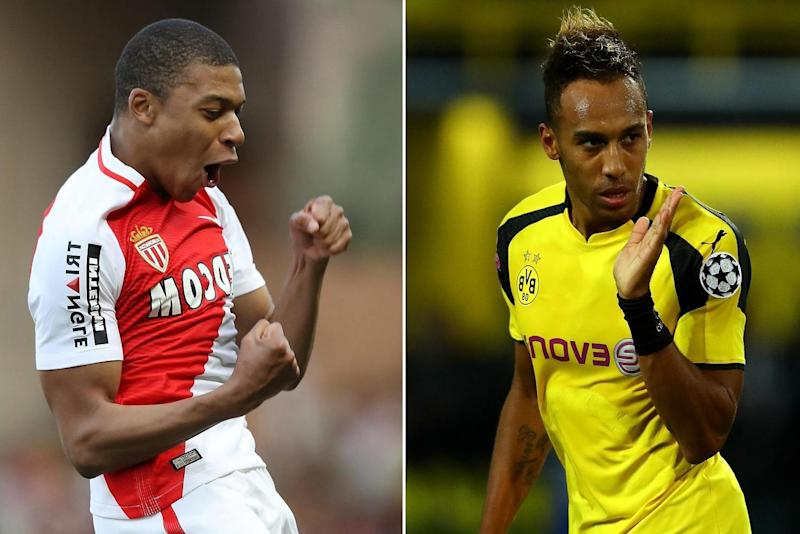 Rivals: Kylian Mbappe and Pierre-Emerick Aubameyang: Bongarts/Getty Images