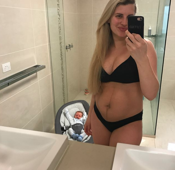 Fitness trainer Tiffiny Hall followed suit in Oct. Photo: Instagram