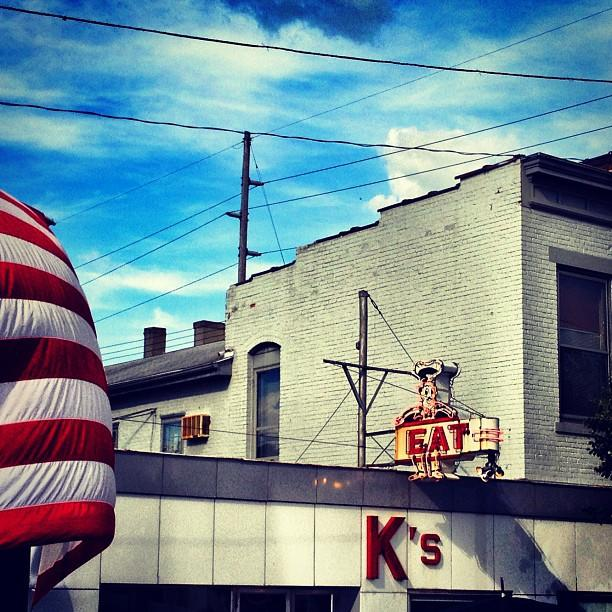 K's Hamburger Shop in Troy, OH, where Mitt Romney met with Republican Speaker of the House John Boehner on Sunday, June 17. (Holly Bailey/Yahoo News)