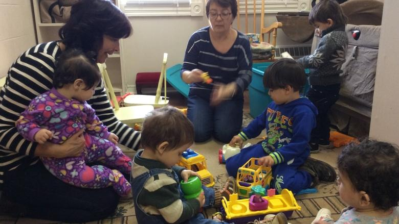 'Women helping women': Volunteers offer childcare, tutoring to Syrian mothers