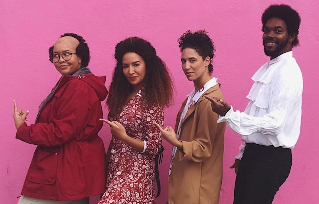 The cast of <em>Black Seinfeld</em> wins Halloween. (Photo: Instagram/GabiFresh)