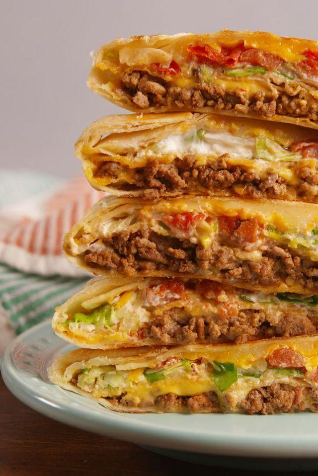 """<p>Trust us, this is every bit as good as the real thing!</p><p>Get the <a href=""""https://www.delish.com/uk/cooking/recipes/a29082475/crunchwrap-supreme-recipe/"""" rel=""""nofollow noopener"""" target=""""_blank"""" data-ylk=""""slk:Crunchwrap Supreme"""" class=""""link rapid-noclick-resp"""">Crunchwrap Supreme</a> recipe. </p>"""