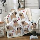 <p>Use this <span>Sleepwish Pug Fleece Blanket</span> ($25) for movie night.</p>