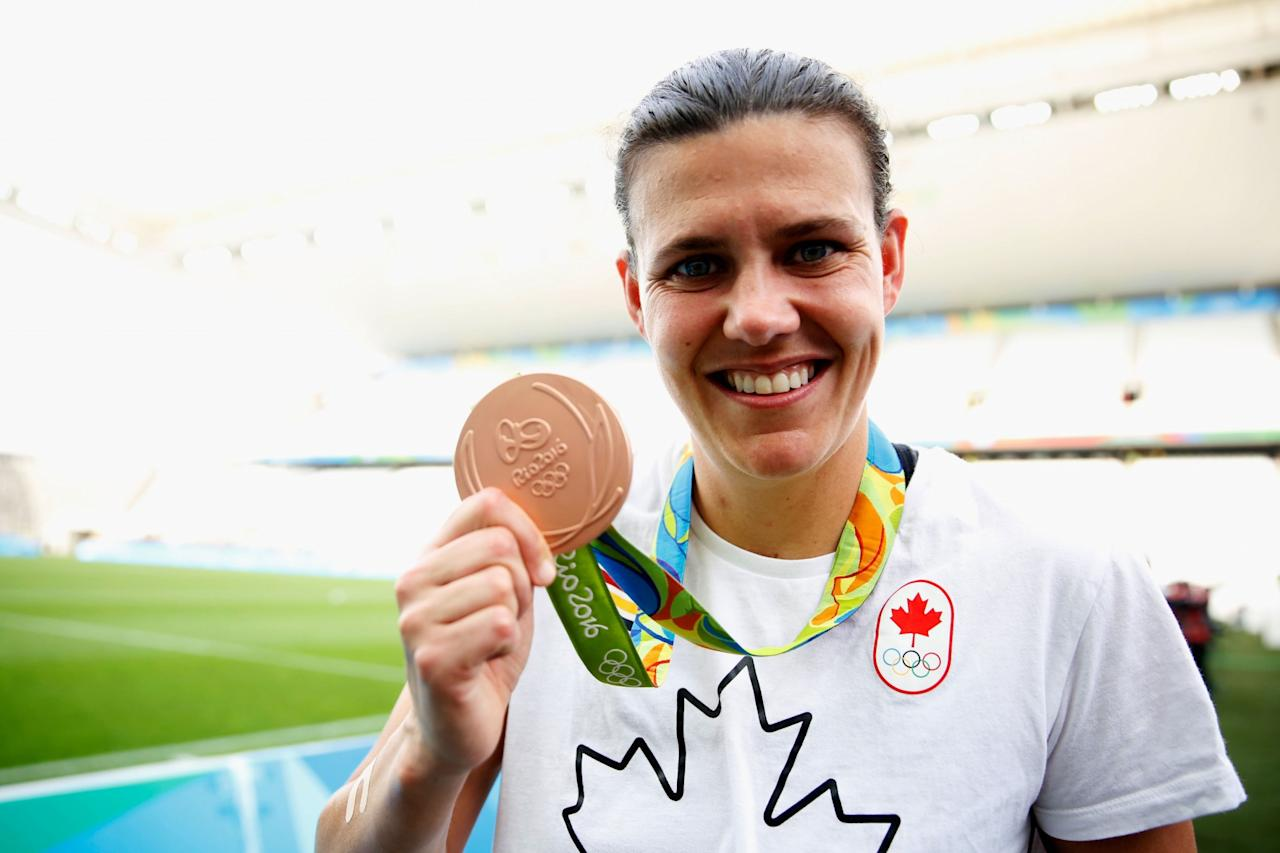 <p><strong>Christine Sinclair</strong><br />She is a two time Olympian and captain of Canada's national women's soccer team. Photo from Getty Images </p>
