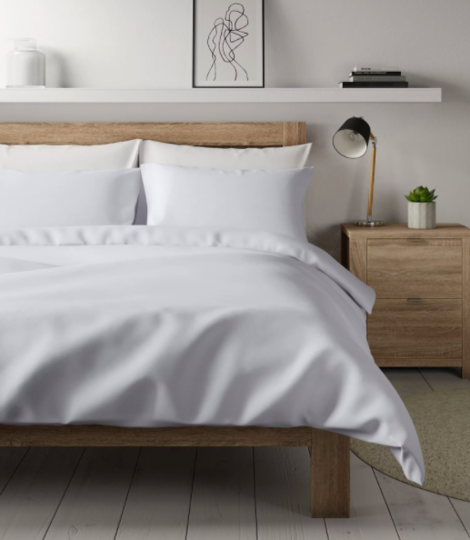 "<p>Spruce up your interiors with this sophisticated white duvet cover. Using sustainably sourced materials, it's perfect for helping you to doze off after a long day. </p><p><strong>WAS</strong>: £60</p><p><a class=""link rapid-noclick-resp"" href=""https://go.redirectingat.com?id=127X1599956&url=https%3A%2F%2Fwww.marksandspencer.com%2Fpercale-cotton-300-thread-count-duvet-cover%2Fp%2Fhbp60460724&sref=https%3A%2F%2Fwww.countryliving.com%2Fuk%2Fhomes-interiors%2Finteriors%2Fg34768938%2Fmarks-and-spencer-black-friday%2F"" rel=""nofollow noopener"" target=""_blank"" data-ylk=""slk:BUY NOW, M&S"">BUY NOW, M&S</a></p>"