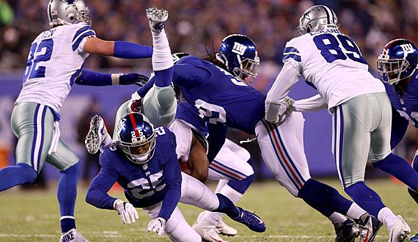 NFL: Giants vs. Cowboys: Hart wie ein Autounfall
