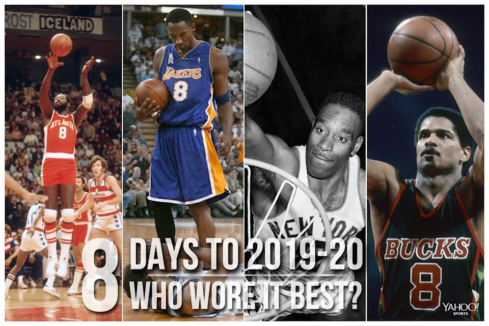 Which NBA player wore No. 8 best?