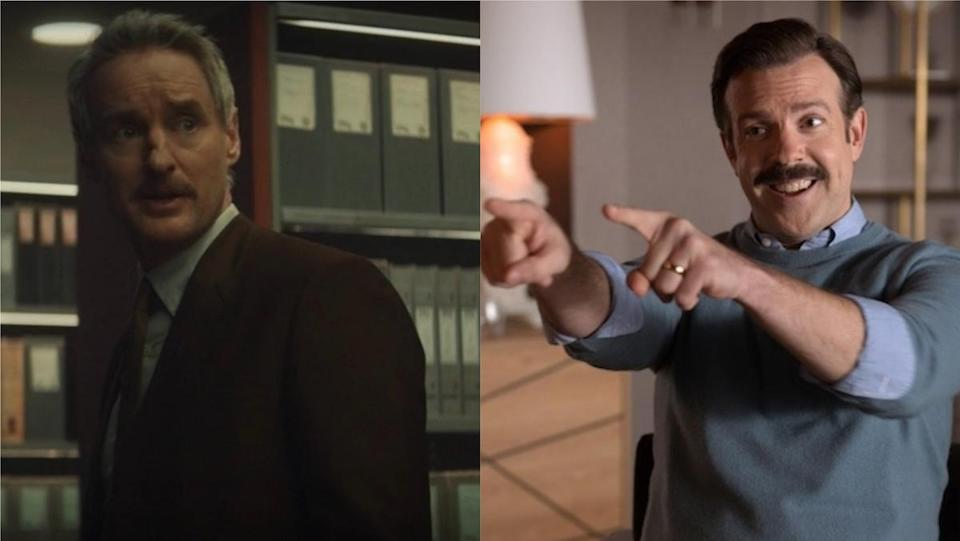 A side by side of upcoming SNL hosts Owen Wilson and Jason Sudeikis