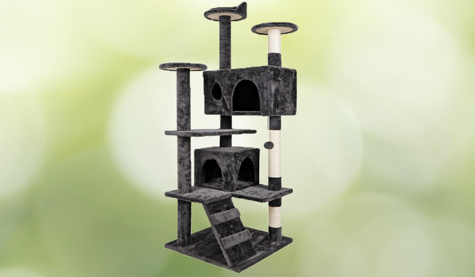Your cats will love this kitty condo. (Photo: Walmart)