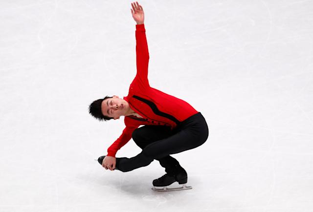 Figure Skating - World Figure Skating Championships - The Mediolanum Forum, Milan, Italy - March 24, 2018 Vincent Zhou of the U.S. during the Men's Free Skating REUTERS/Alessandro Garofalo
