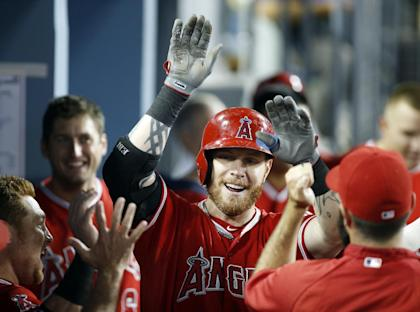 Josh Hamilton during a better time with the Angels. (AP)