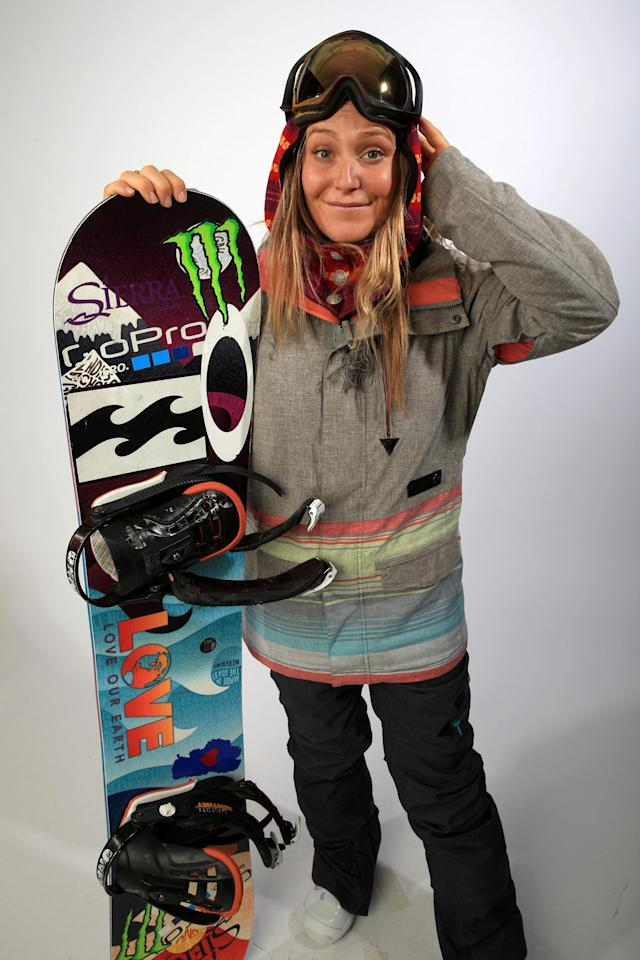 PARK CITY, UT - OCTOBER 02: Snowboarder Jamie Anderson poses for a portrait during the USOC Media Summit ahead of the Sochi 2014 Winter Olympics on October 2, 2013 in Park City, Utah. (Photo by Doug Pensinger/Getty Images)