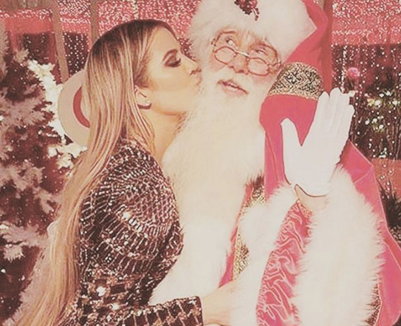 This is, hands down, the most adorable Kardashian Christmas photo this year