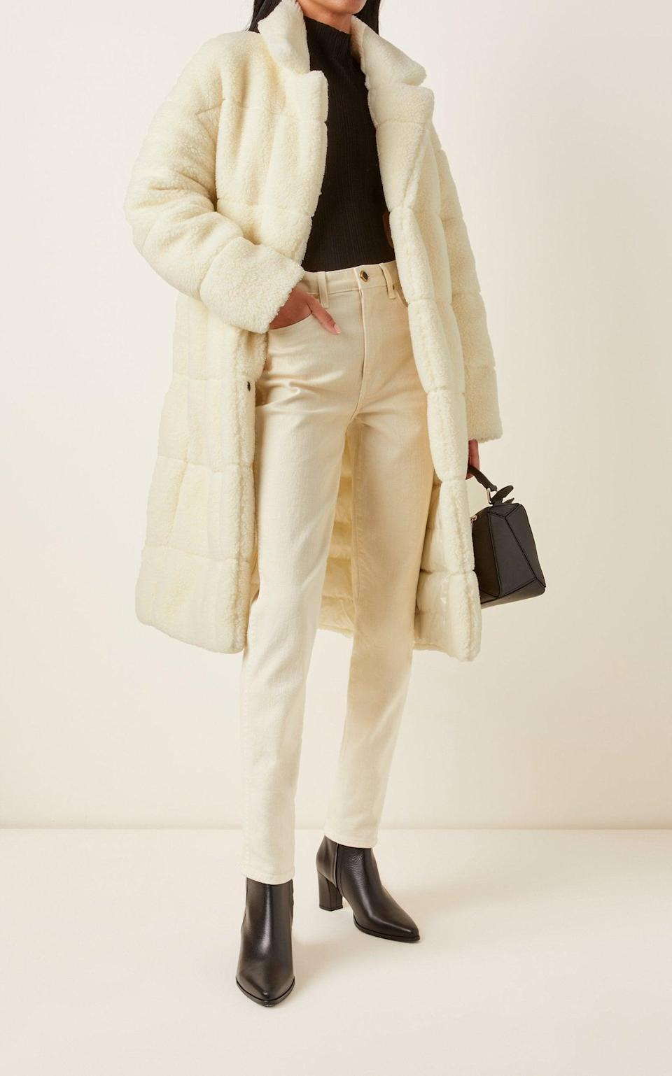 <p>This <span>Moncler Bagaud Reversible Eco-Fur Down Coat</span> ($1,770) is the dream. It's a faux fur coat you'll want to wear all the time.</p>