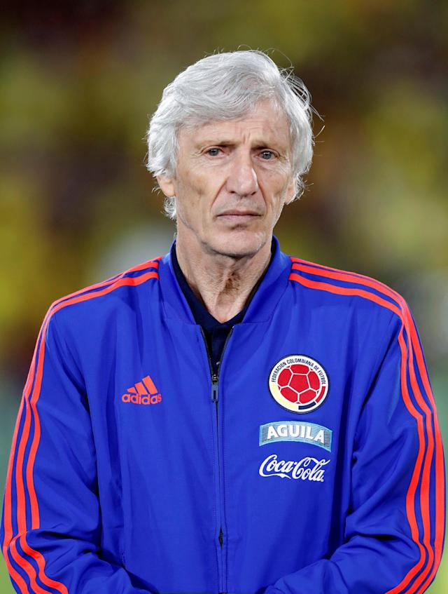 Soccer Football - Farewell Soccer Match - Colombia national team - Nemesio Camacho El Campin, Bogota, Colombia May 25, 2018. Colombia's national soccer coach Jose Pekerman is pictured during the farewell ahead of the upcoming FIFA World Cup Russia 2018. REUTERS/Henry Romero