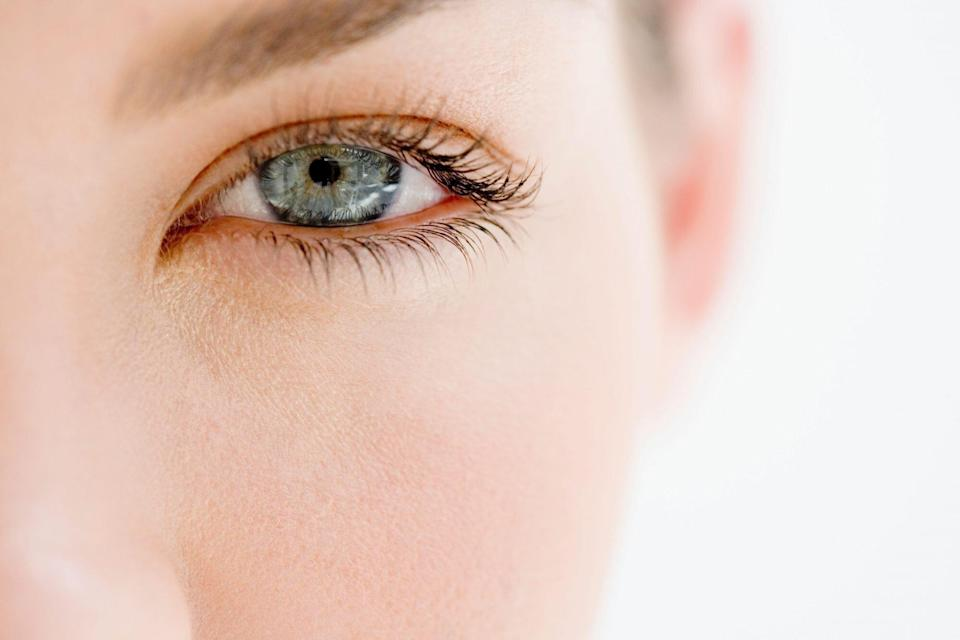 Close Up of Woman with Blue Eyes