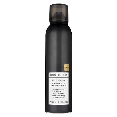 <p>Not only does the <span>Kristin Ess Style Reviving Brunette Dry Shampoo</span> ($14) leave behind zero white residue, but the product doubles as a styler that helps extend the wear of your blowout. </p>