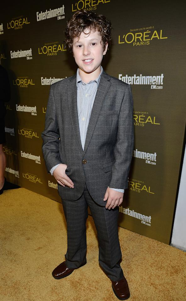 WEST HOLLYWOOD, CA - SEPTEMBER 21: Actor Nolan Gould attends The 2012 Entertainment Weekly Pre-Emmy Party Presented By L'Oreal Paris at Fig & Olive Melrose Place on September 21, 2012 in West Hollywood, California.  (Photo by Alberto E. Rodriguez/Getty Images for Entertainment Weekly)