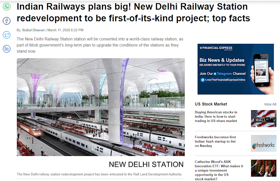 """<div class=""""paragraphs""""><p>A link to the story can be found <a href=""""https://www.financialexpress.com/infrastructure/railways/indian-railways-plans-big-new-delhi-railway-station-redevelopment-to-be-first-of-its-kind-project-top-facts/1895140/"""" rel=""""nofollow noopener"""" target=""""_blank"""" data-ylk=""""slk:here"""" class=""""link rapid-noclick-resp"""">here</a>.</p></div>"""