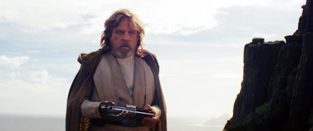 Mark Hamill as Luke Skywalker in <em>Star Wars: The Last Jedi</em>. (Photo: Industrial Light & Magic/Walt Disney Studios Motion Pictures/Lucasfilm Ltd./Courtesy Everett Collection)