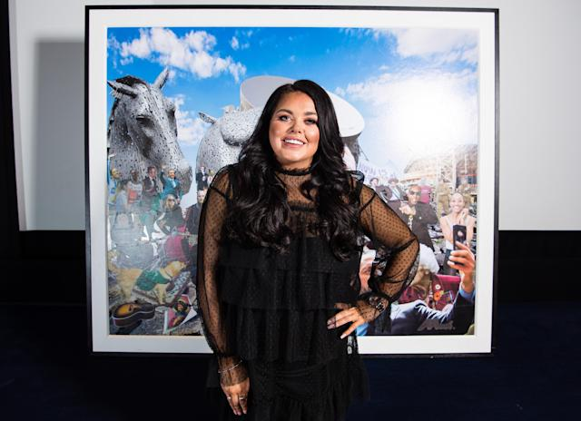 Scarlett Moffatt is an advocate for body positivity. (Getty Images for The National Lottery)