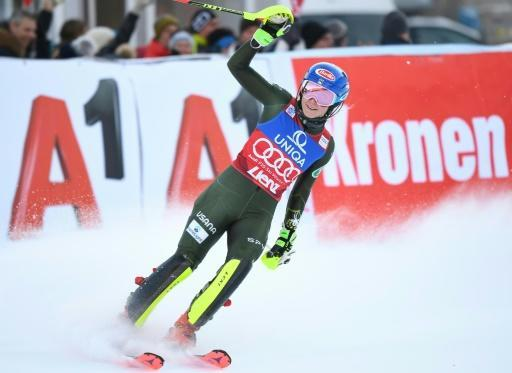 Mikaela Shiffrin won again on Sunday, this time taking the slalom