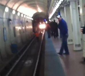 "When 50-year-old Eddie Palacios saw a woman fall onto the rail tracks at the Chicago Avenue CTA Blue Line station with a train swiftly approaching, <a href=""http://www.huffingtonpost.com/2014/04/03/man-jumps-onto-train-tracks-to-save-woman_n_5085419.html"" target=""_blank"">he did not hesitate to jump down to her in an attempt to stop the oncoming train</a>. He was able to pull her to safety in time -- and the whole exchange was caught on video. <a href=""http://www.huffingtonpost.com/2014/04/03/man-jumps-onto-train-tracks-to-save-woman_n_5085419.html"" target=""_blank"">Read the full story here</a>."