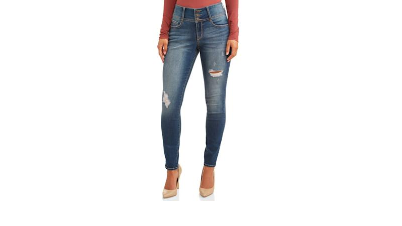 Paulina Sculpting Destructed Skinny Jean. (Photo: Walmart)