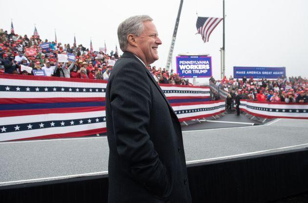 White House Chief of Staff Mark Meadows attends a Make America Great Again campaign rally at Lancaster Airport in Lititz, Pennsylvania, on Oct. 26, 2020. (Photo: Saul Loeb/AFP via Getty Images)