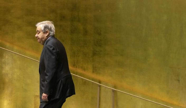 """The UN Security Council wants """"a peaceful and stable Afghanistan where humanitarian aid can be distributed without problems and without discrimination,"""" Secretary-General Antonio Guterres said (AFP/JUSTIN LANE)"""