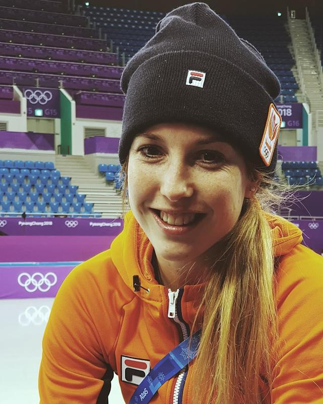 <p>Lara Victoria van Ruijven Netherlands, speed skating<br>laravanruijven: #positivevibes are back #Pyeongchang2018 #TeamNL (Photo via Instagram/laravanruijven) </p>