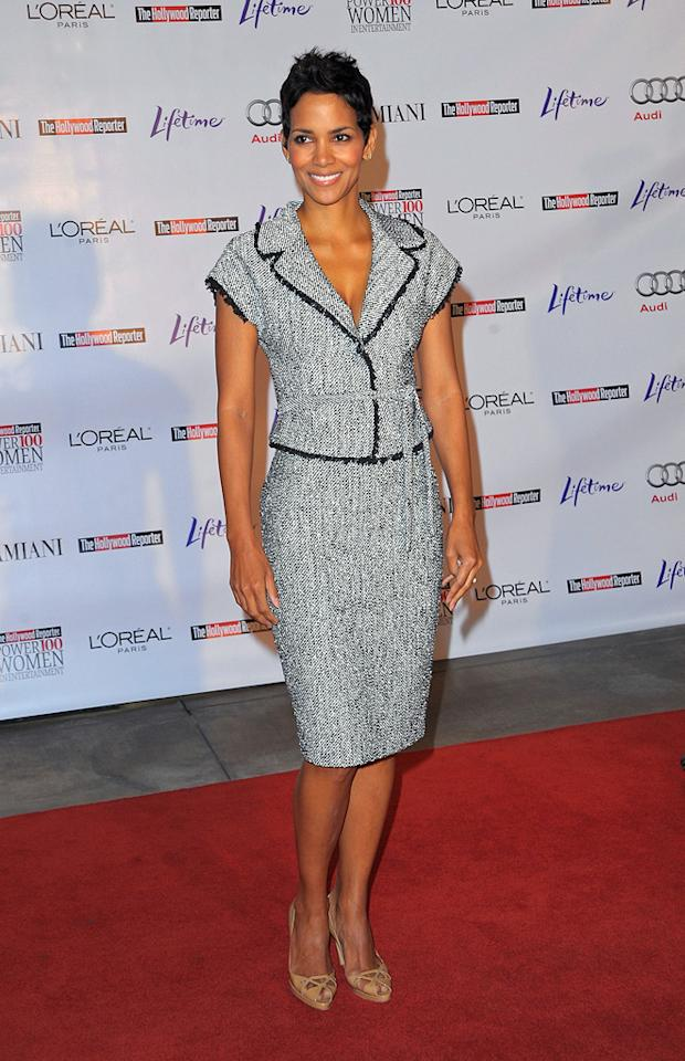 """<a href=""""http://movies.yahoo.com/movie/contributor/1800019906"""">Halle Berry</a> at the Hollywood Reporter's Annual Women in Entertainment breakfast in Beverly Hills, CA - 12/04/2009"""