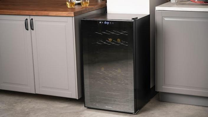 The Wine Enthusiast 32-Bottle Dual-Zone MAX is the best wine fridge we tested.
