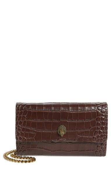 <p><span>Kurt Geiger London Kensington Croc Embossed Leather Wallet on a Chain</span> ($72, originally $145)</p>