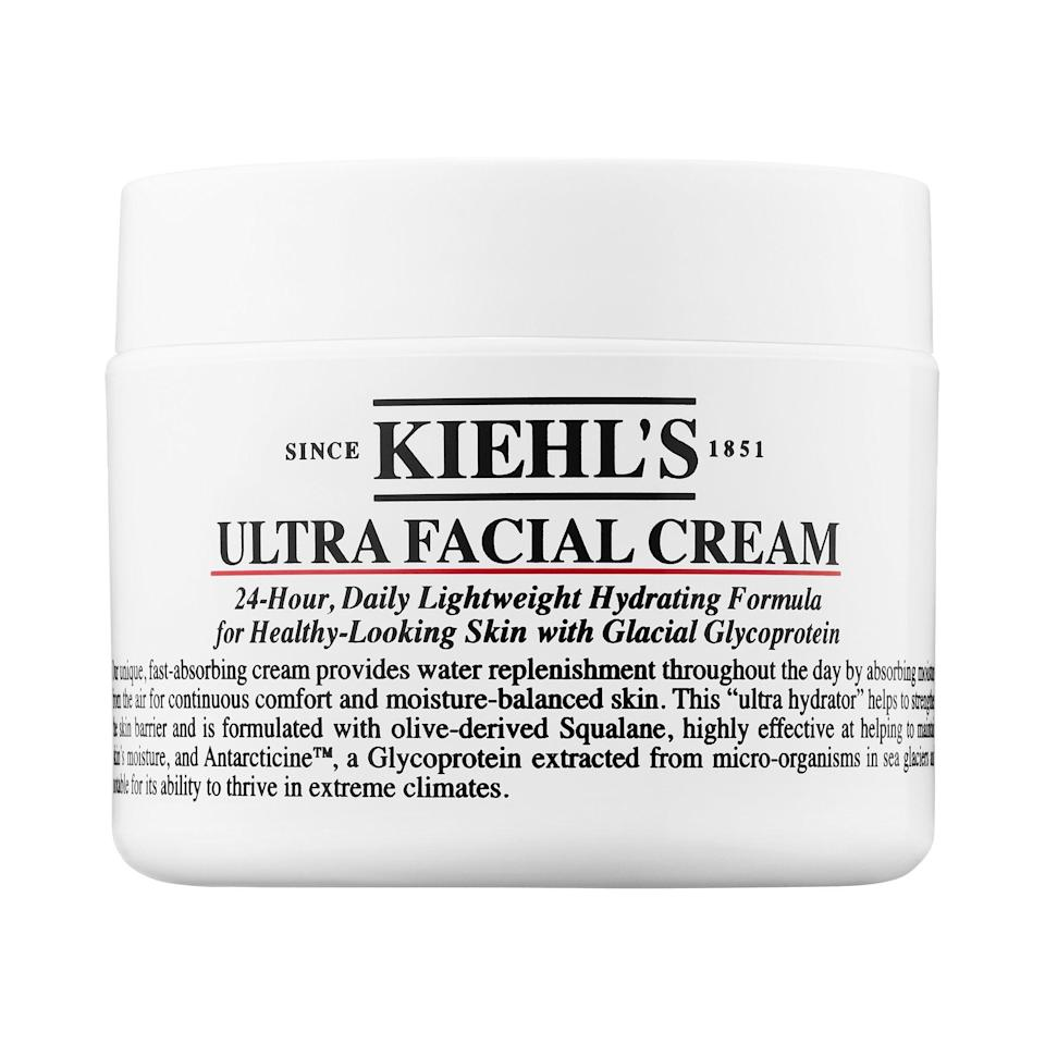 <p>Finally, I pat some moisturizer onto my face, neck, chest, and hands. The <span>Kiehl's Ultra Facial Cream</span> ($30) is a constant go-to. It works with every skin type and doesn't break me out.</p>