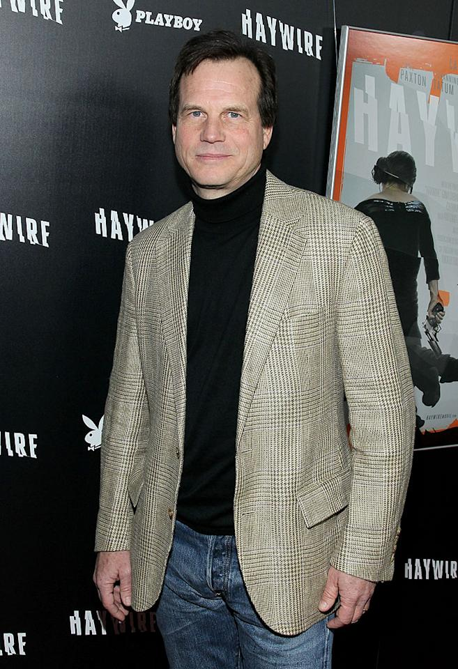 """LOS ANGELES, CA - JANUARY 05:  Actor Bill Paxton arrives at Relativity Media's premiere of """"Haywire""""co-hosted by Playboy held at the DGA Theater on January 5, 2012 in Los Angeles, California.  (Photo by Mark Davis/WireImage)"""